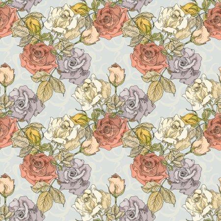 Photo pour Vintage motif floral de sans couture - image libre de droit