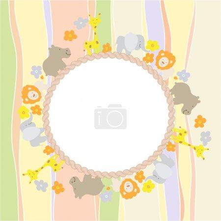 Photo pour Carte de douche bébé - image libre de droit