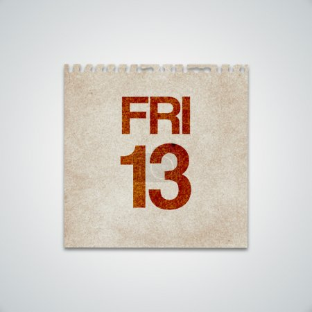 Friday 13th on Grunge Paper Vector