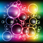 Abstract Colorful Rainbow Bubble Background Vector