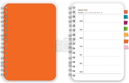 Orange notebook planner