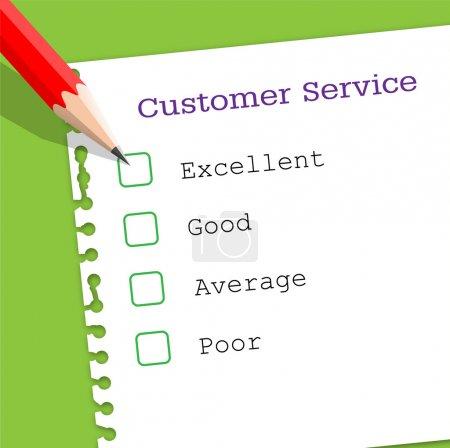 Ilustración de Papel de servicio al cliente - Imagen libre de derechos