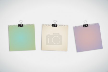 Colorful post it memopads isolated on white Background
