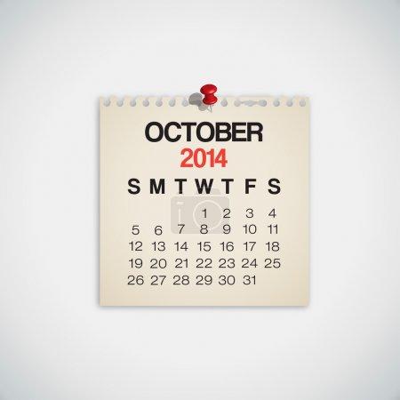 2014 Calendar October