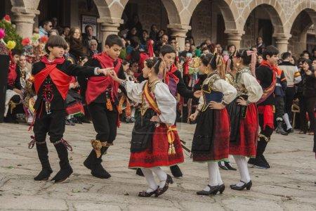 Traditional celebrations Carnaval de Animas, Valdeverdeja, Toledo, Spain