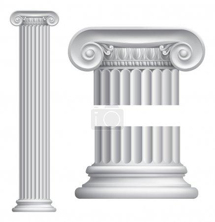 Photo pour Illustration du classique colonne ionique grecque ou romaine - image libre de droit