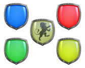 Shields in different colours
