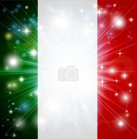 Italian flag background