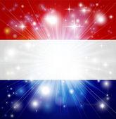 Nizozemská vlajka pozadí