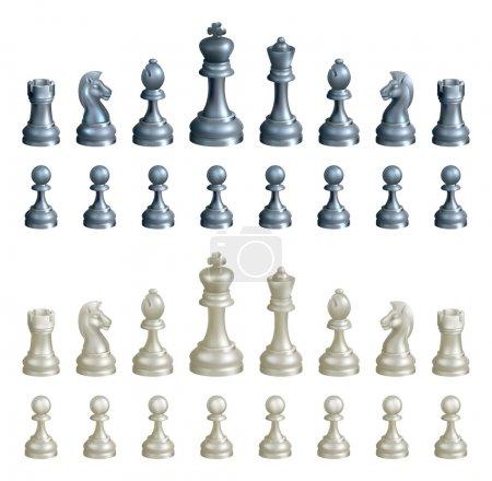 Chess pieces set
