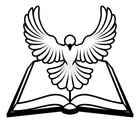 Christian Bible Dove Concept