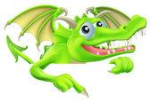 Cartoon Dragon Pointing Down