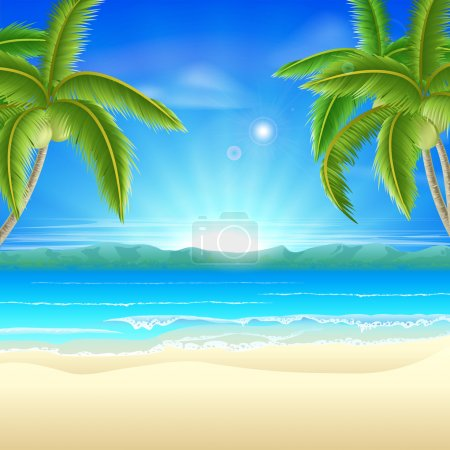 Summer holiday beach background of a beautiful sum...