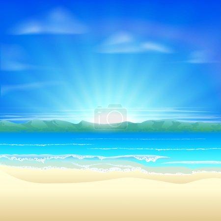 Summer sand beach background