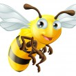 An illustration of a cute cartoon bee...
