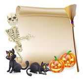Halloween Skelett Scroll-banner