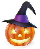 čarodějnice klobouk halloween dýně