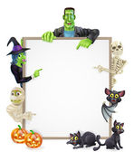 Halloween znak pozadí