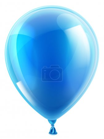 Blue birthday or party balloon