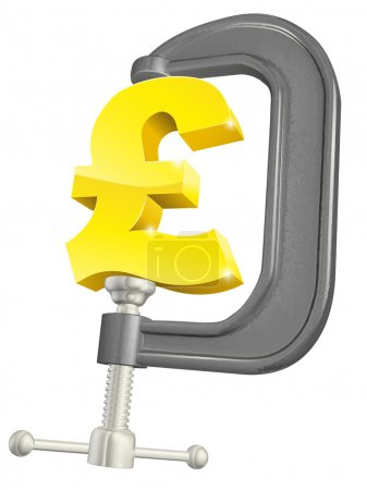 Pound sign in clamp concept