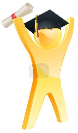 Happy gold graduate