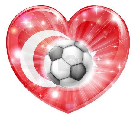 Turkey soccer heart flag