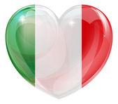 Italian flag love heart