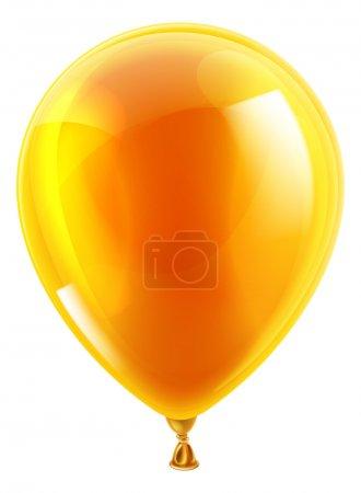 Orange birthday or party balloon