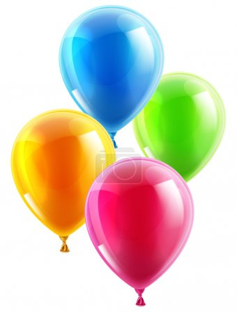 Illustration for An illustration of a set of colourful birthday or party balloons - Royalty Free Image
