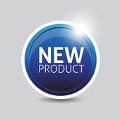 New Product button blue vector