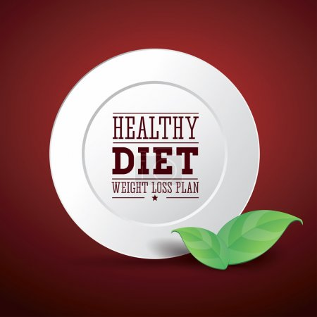 Illustration for Weight loss plan diet vector healthy - Royalty Free Image