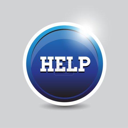 Help button blue
