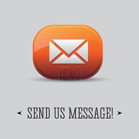 Send us message orange button