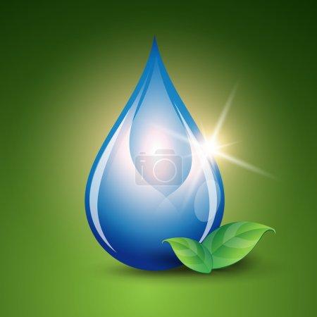 Water drop vector nature background