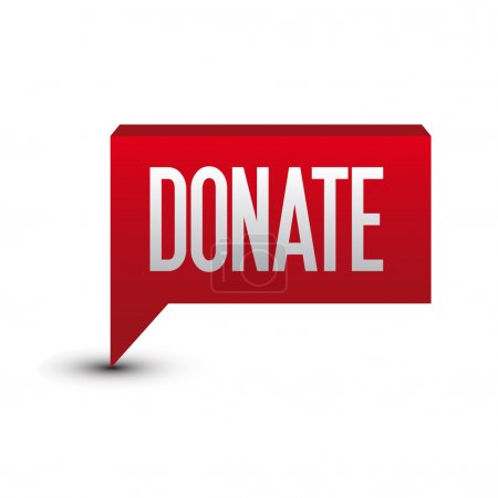 Donate button tag red