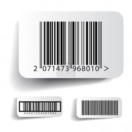 Ilustración de Etiqueta de código de barras set vector - Imagen libre de derechos