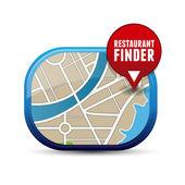 Restaurant finder app button