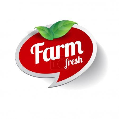 Illustration for Farm Fresh label - Royalty Free Image