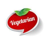 Vegetariánské jídlo štítek