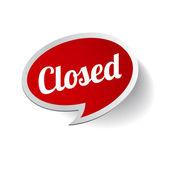Uzavřené znamení - uzavřené prodejny