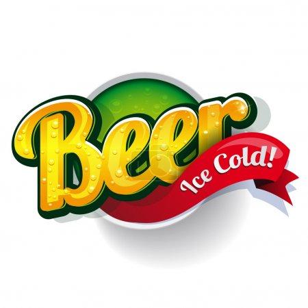 Illustration pour Vintage bière affiche vecteur signe - image libre de droit