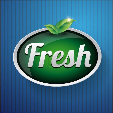 Illustration for Fresh label button vector - Royalty Free Image