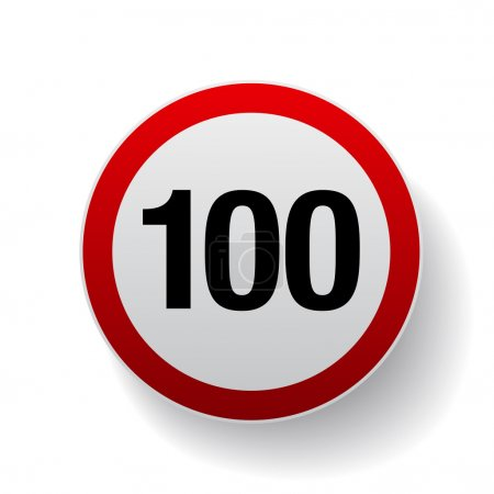 Speed sign - Number hundred button
