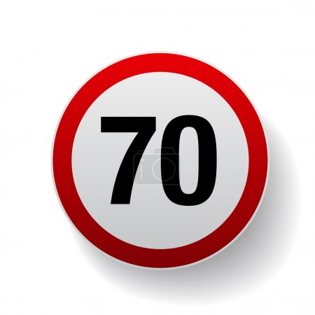 Speed sign - Number seventy button
