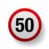 Speed sign - Number fifty button