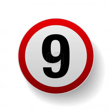 Speed sign - Number nine button