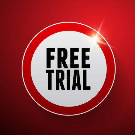 Illustration pour Essai gratuit étiquette vectorielle - image libre de droit