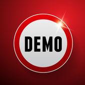 Demo vector label