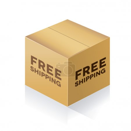 Illustration pour Boîte de livraison gratuite - image libre de droit