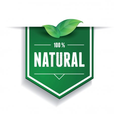 Illustration for Natural label or ribbon - Royalty Free Image
